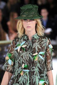 Vestito foglie Galliano