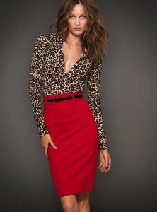 gonna con camicia leopardata